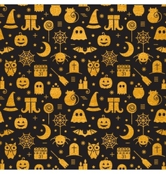 Seamless Halloween gold textured pattern vector image