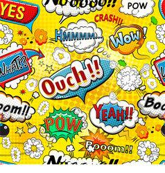 Comic speech bubbles seamless pattern vector image vector image
