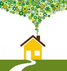 environmentally house vector image vector image