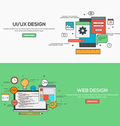 Flat design line concept vector image