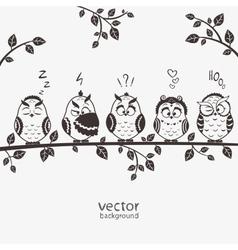 owls five vector image