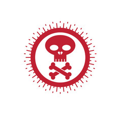 skull and bones icon isolated on white vector image