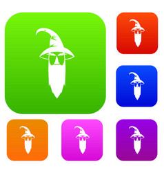 wizard set collection vector image vector image