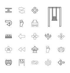 22 back icons vector