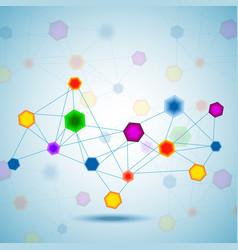 Abstract hexagonal molecular structure of dna vector