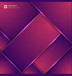 abstract pink and purple color geometric overlap vector image