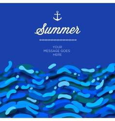 Abstract summer time background with blue wave vector