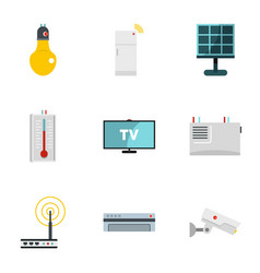Automation technology icon set flat style vector