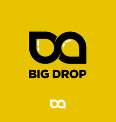 b and d letters big drop logo two drops like vector image