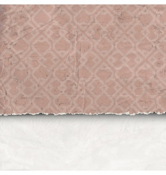 Background of crumpled torn paper vector