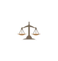 balance symbol scales logo vector image