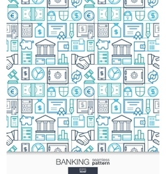 Banking and finance wallpaper Bank seamless vector image