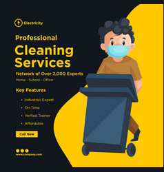 banner design of professional cleaning services vector image