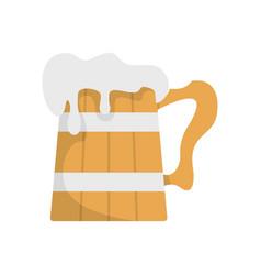 Big beer mug icon flat style vector