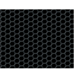 Black hexagon mesh on black background design vector