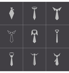 Black tie icons set vector