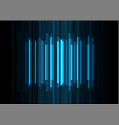 Blue frequency bar overlap in dark background vector
