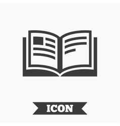 Book sign icon Open book symbol vector image