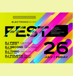 Bright music poster for festival electronic music vector