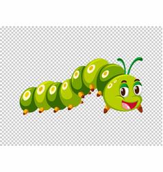 caterpillar in green color vector image