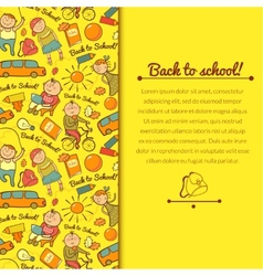Cheerful background with children vector