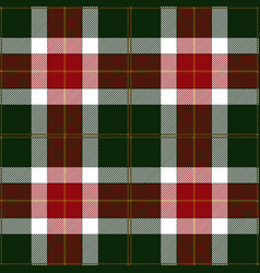 christmas festive tartan plaid pattern vector image