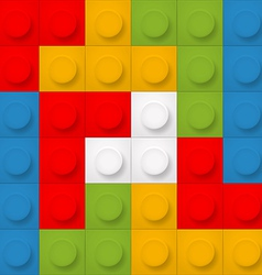 Color constructor blocks seamless background vector image