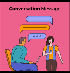 Conversation message people vector