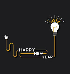 creative happy new year 2018 poster design using vector image
