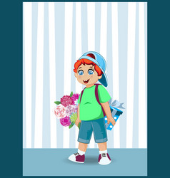cute cartoon little boy character with ginger vector image
