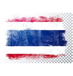 Distressed thailand flag grunge texture style vector