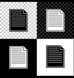 document icon isolated on black white and vector image