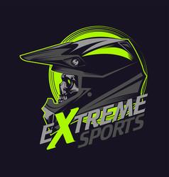 extreme sport skull vector image