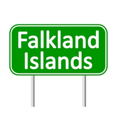 Falkland Islands road sign vector