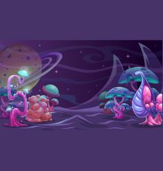 Fantasy alien landscape another world concept vector