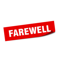 Farewell sticker farewell square sign farewell vector