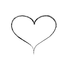 figure heart symbol of love and passion design vector image