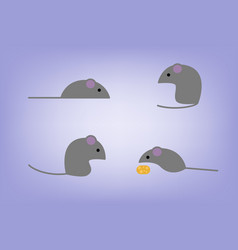 Flat mouses vector