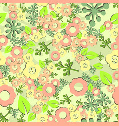 flower seamless pattern spring vector image