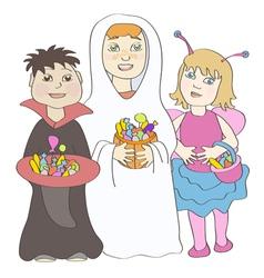 Halloween children vector