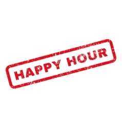 Happy Hour Text Rubber Stamp vector