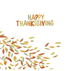 Happy Thanksgiving postcard design Autumn fall Fo vector