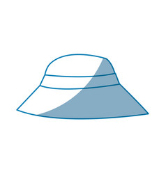 Hat man protection sun vacations vector