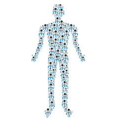 hierarchy person figure vector image
