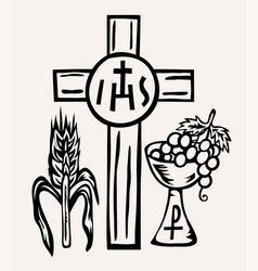 Ihs jesus icon and symbol vector