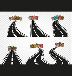 isolated abstract road with dividing marking vector image