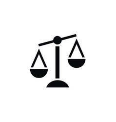 isolated court icon balance element can be vector image