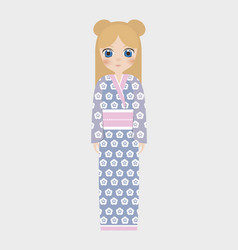 Japan girls design vector