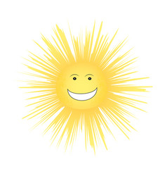 laughing sun childs summer vector image