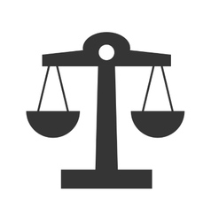 Law design balance icon Flat and isolated vector